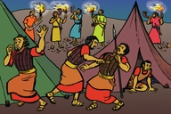 Picture 16. Gideon's Men Surround The Camp Of Midian