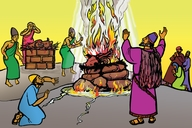Picture 22. Elijah and the Fire of God