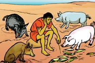 Picture 76. The Lost Son Among the Pigs