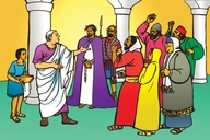 Picture 106. Jesus Tried Before Pilate